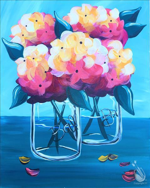 How to Paint Bright Fall Hydrangeas 16X20 NEW ART! 18+
