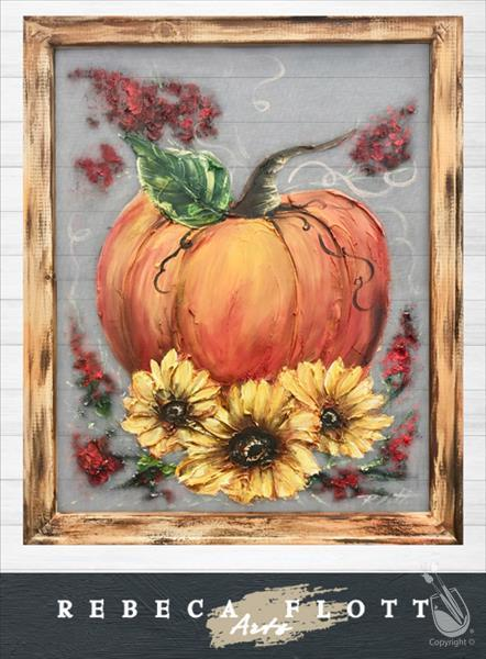 Rebecca Flott Arts Screen Art - Fall Pumpkins