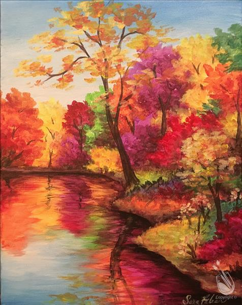 NEW! Fall Trees Reflected **LIMITED SEATING**