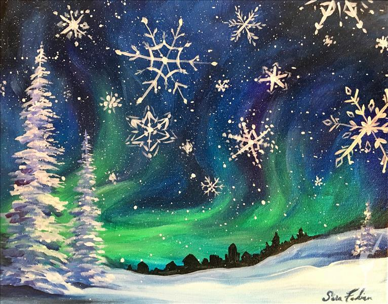 How to Paint Snowflakes Falling  **LIMITED SEATING**