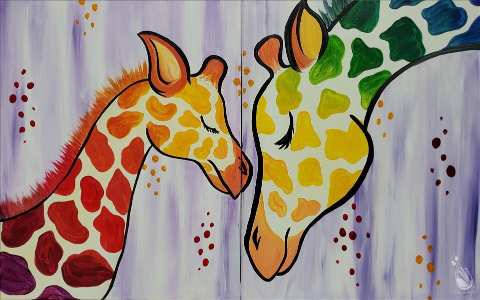 Mommy and Me Rainbow Giraffes (Set or Single)