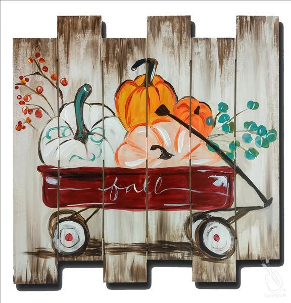 How to Paint My Little Fall Wagon Pallet (Adults 18+)