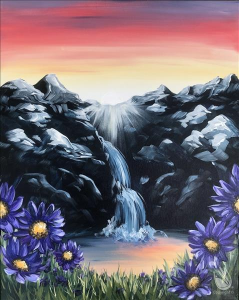 Mountain Waterfall - In Studio