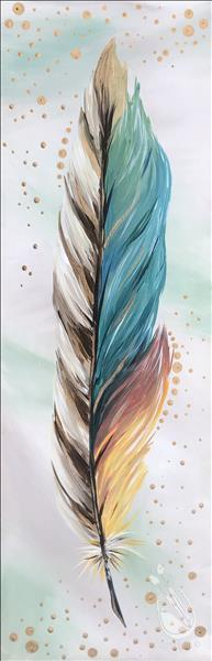 Metallic Feathers - Gold (LIMITED SEATING)