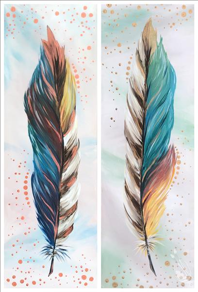 How to Paint Metallic Feathers - Set