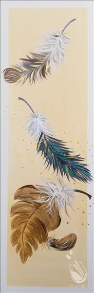 Falling Feathers ~ DOUBLE PAINT POINTS
