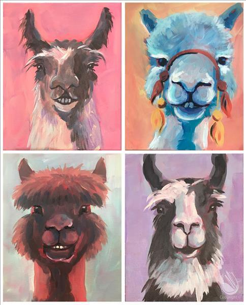 Llots of Llama Love (4 Color Options) - IN STUDIO