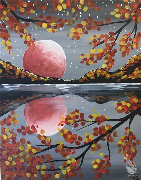 Blue Water - Pink Moon Painting Party