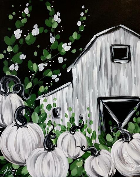 How to Paint Farmhouse Pumpkin Barn (Adults 18+)