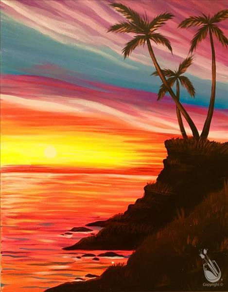 How to Paint VIVID SUNSET **Public Event**