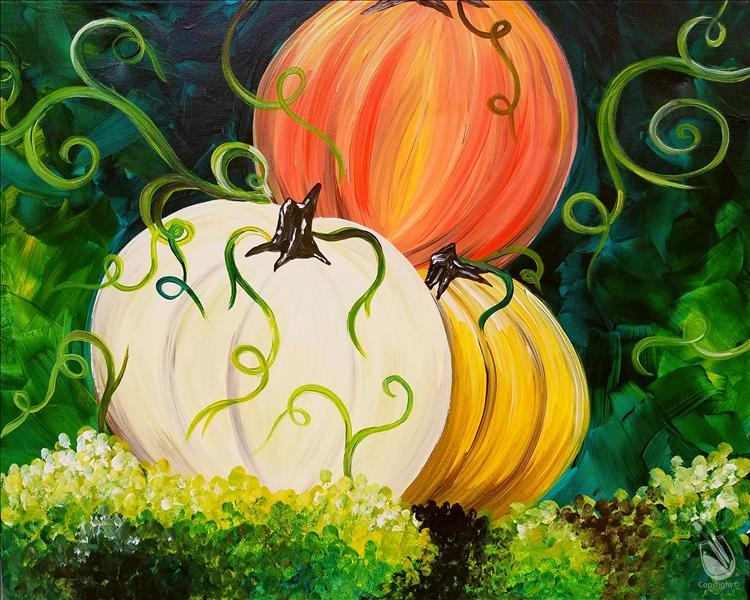 How to Paint **COFFEE & CANVAS** Colorful Pumpkins ($10 off)