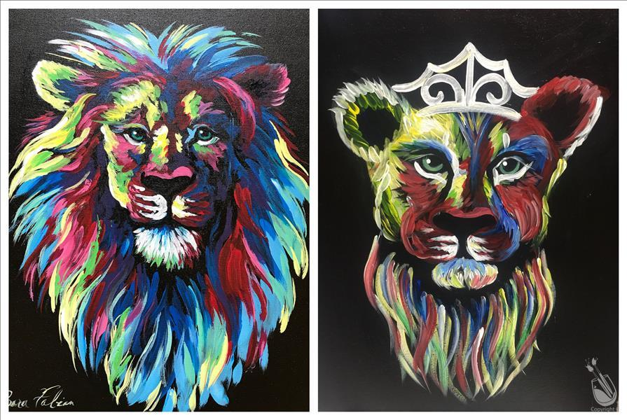 VIRTUAL OR IN STUDIO: *DATE NIGHT!* Colorful Lions