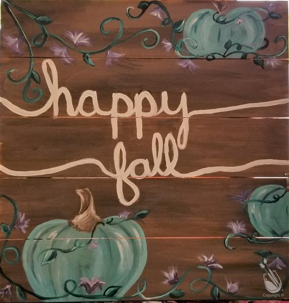 Open Class- Happy Fall on canvas