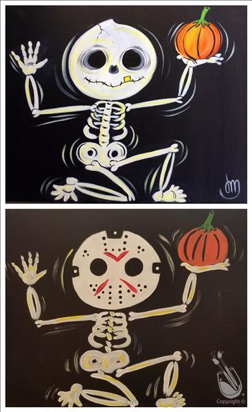 Halloween Skeletons - Customize! - In Studio Class