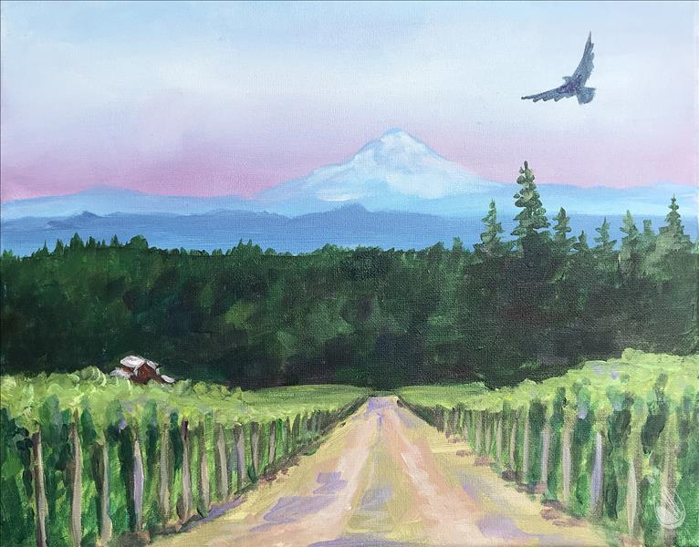 How to Paint A Hawk's View of the Winery