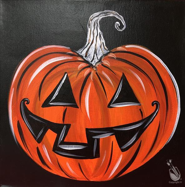 Halloween Jack O'Lantern - In Studio Class