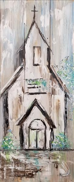 Rustic Farmhouse Chapel (Tall Canvas Art)