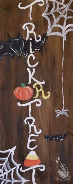 Nichole's Trick or Treat Real Wood Board