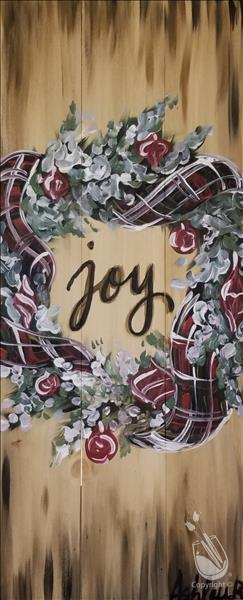 Joy In Plaid (Wood Board) - IN STUDIO EVENT