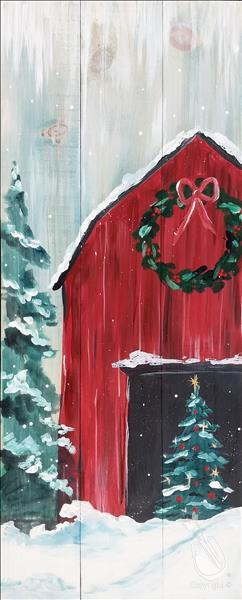 How to Paint Rustic Christmas Barn