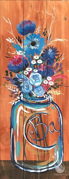 Blue Boquet REAL WOOD BOARD! Adults Only