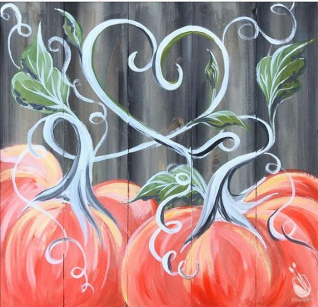 How to Paint Love, Pumpkins, and Fall Real Wood Board