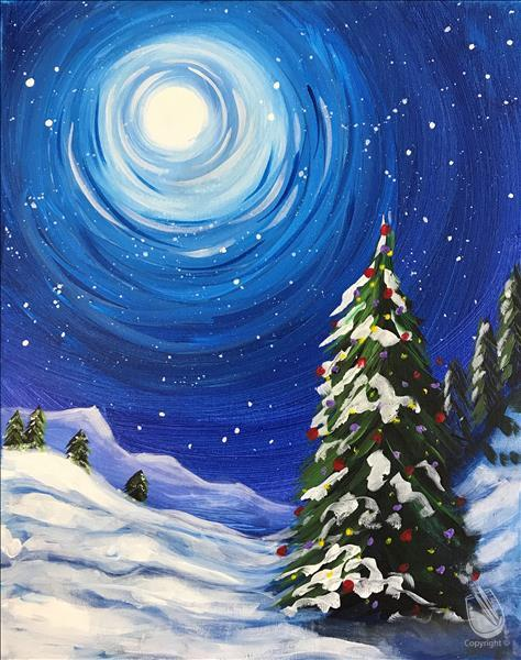 Solitude in Snow Painting Party