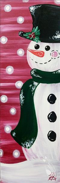 How to Paint **YOUR CHOICE** Build a Snowman - Sip and Paint