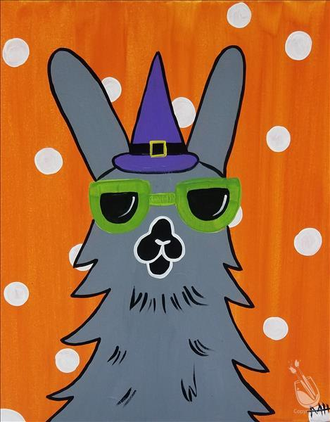 How to Paint ALL AGES WELCOME! Spooky Party Llama