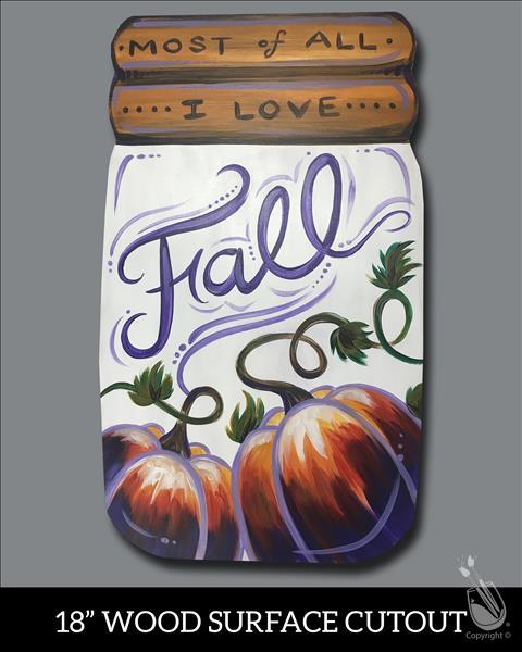 Fall Pumpkin Jar Cutout