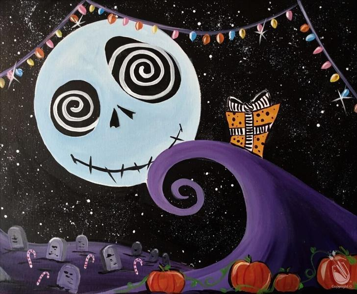 How to Paint FAMILY FUN Holiday Nightmare (10+) LIMITED SEATING