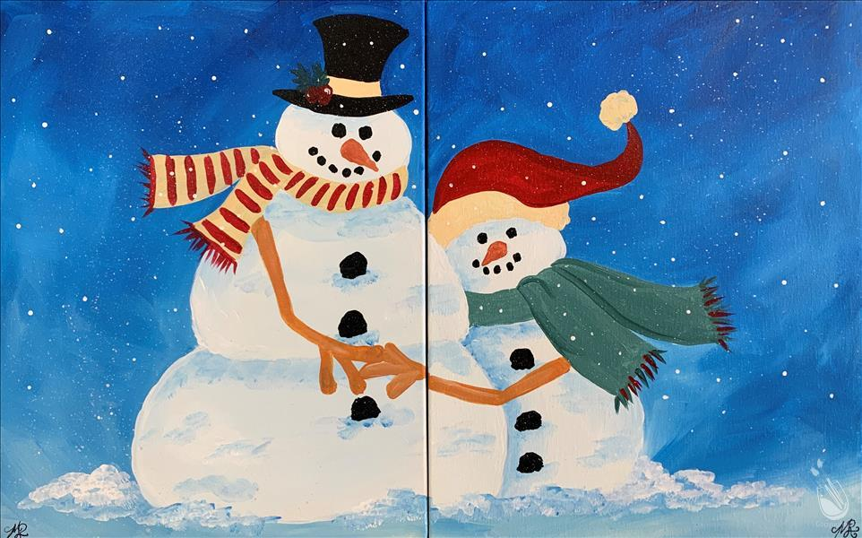 How to Paint Mommy and Me Snow Family - Set. Ages 7+