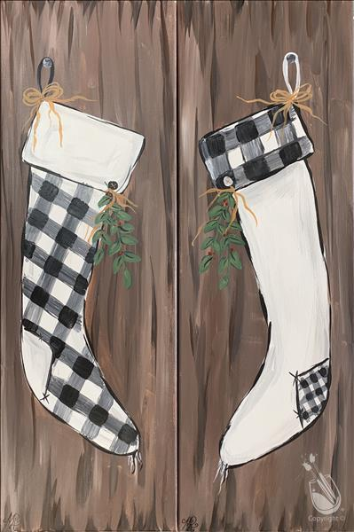 How to Paint *IN STUDIO SESSION* Plaid Stockings Pick 1 or Set