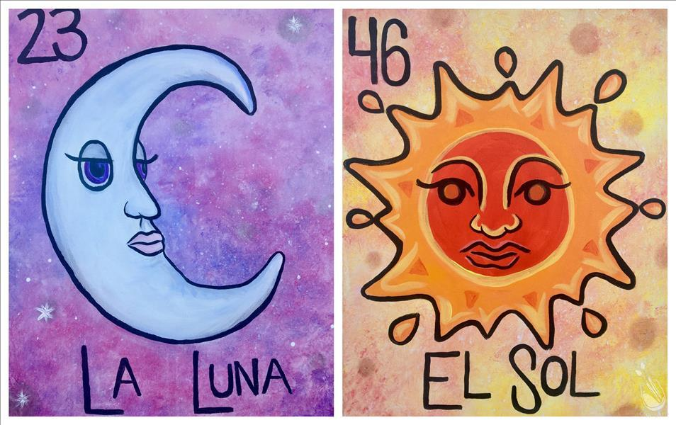 How to Paint PUBLIC PARTY SINGLES/COUPLES La Luna, El Sol