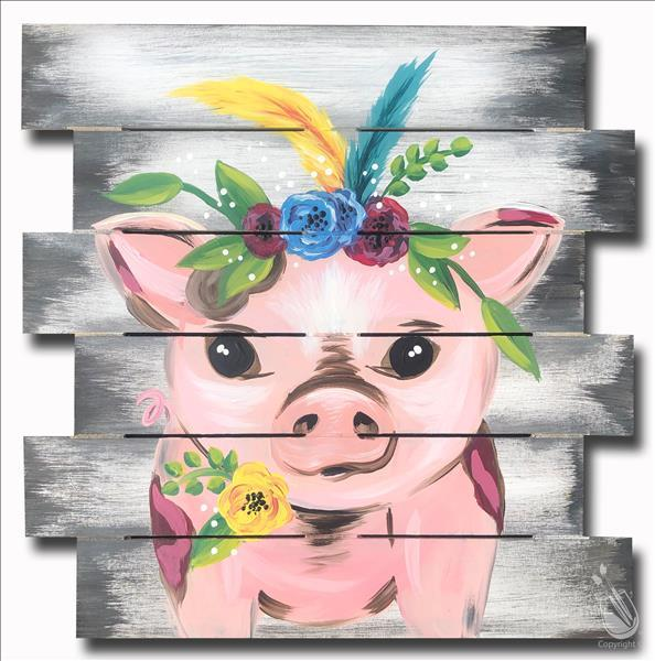 Boho Pig - WOOD PALLET - TEENS WELCOME!
