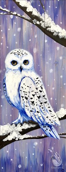 How to Paint Snowy Owl Real Wood Board (Adults 18+)