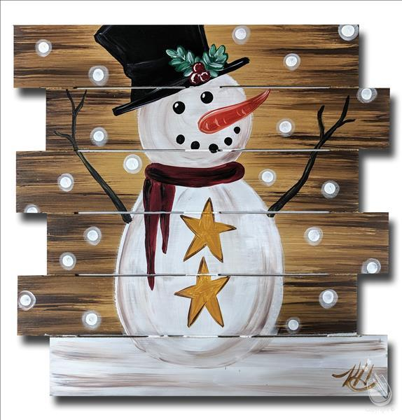 Holiday Snowman Pallet 2