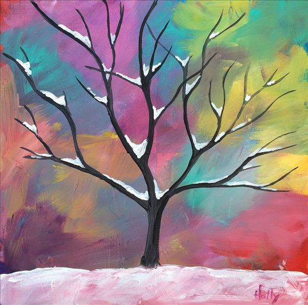 How to Paint *FAMILY FUN* Pastel Tree - AGES 8+