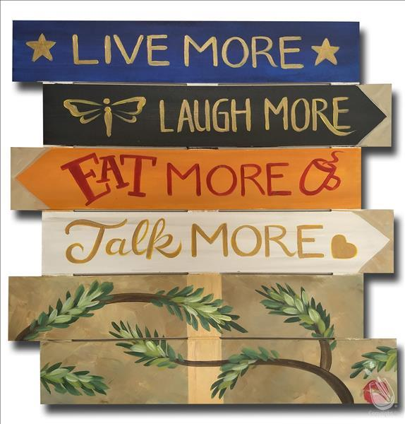 How to Paint Live, Laugh, Eat, Talk... MORE! Pallet