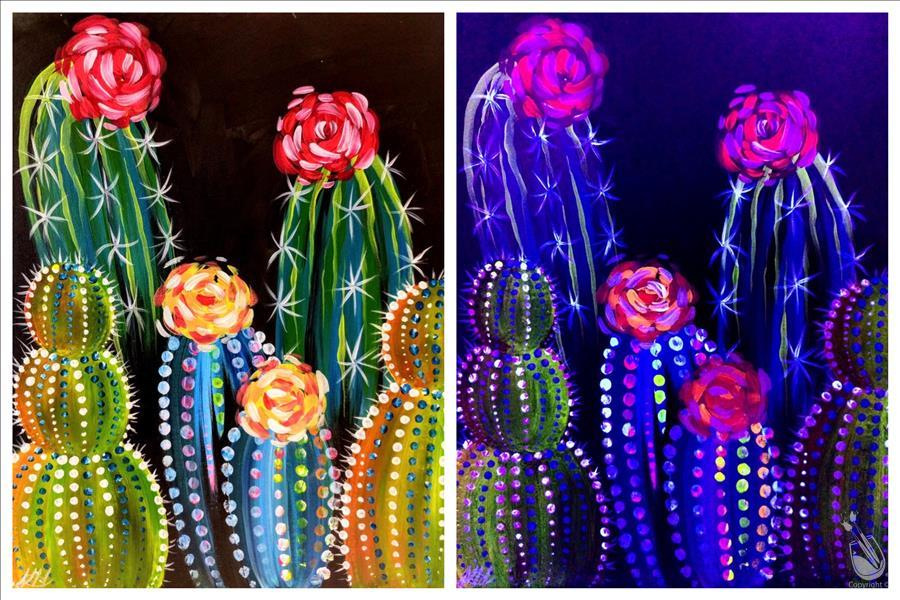 **DATE NIGHT**Neon Cacti - Blacklight Set