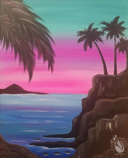 How to Paint Cotton Candy Island - Teens & Adults