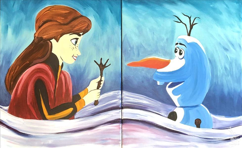 How to Paint Mommy and Me- Anna and Olaf!