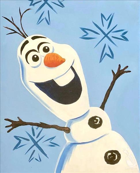How to Paint Frozen Friends - Olaf