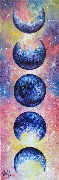 How to Paint Lunar Love Galaxy on 10 x 30 Canvas