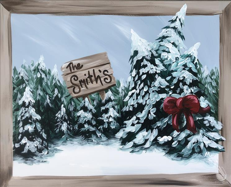 How to Paint Family Christmas Tree Farm (personalize it!)