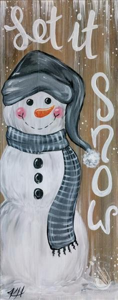 Cozy Farmhouse Snowman Real Wood Board