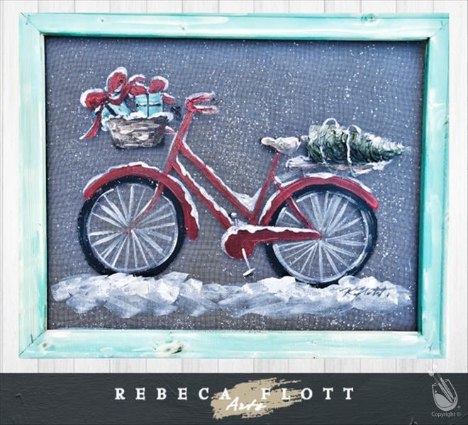 Rebeca Flott Arts - Biking through the Holidays