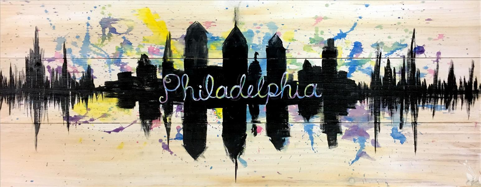 How to Paint PUBLIC PARTY Philly Skyline