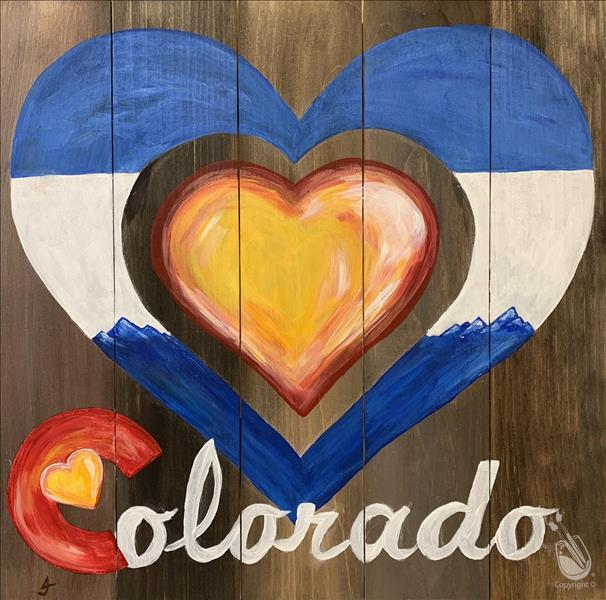 LIVE VIRTUAL CLASS~Love Colorado Wood Board