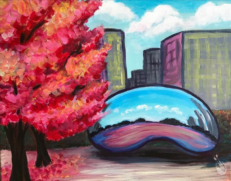 How to Paint Fall and the Bean Painting Party